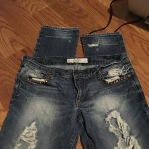 Abercrombie& Fitch jeans distressed 4